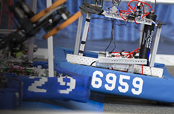 Team robot during competition