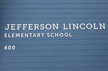 New signage on Jefferson Lincoln School