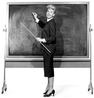 Teacher at the chalkboard