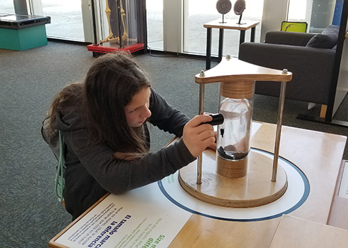 Student at pacific science center