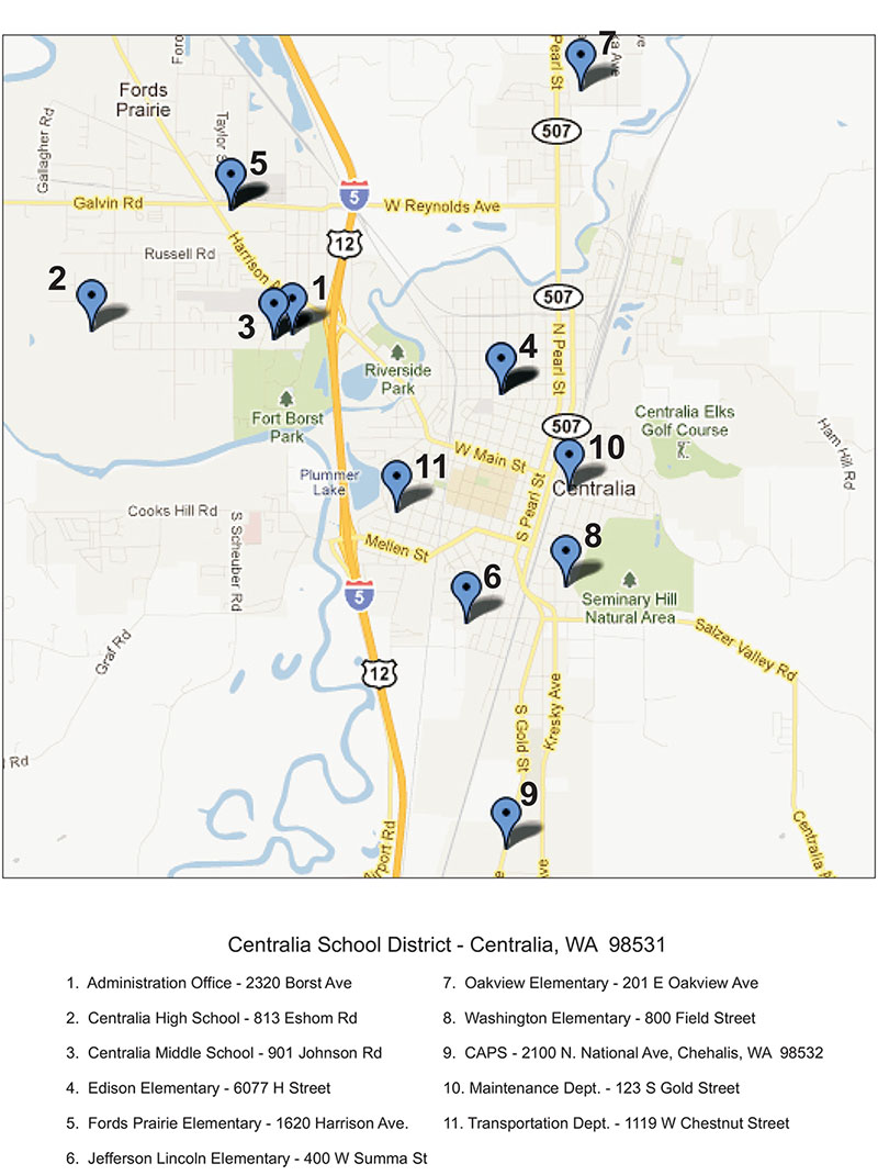 centralia school district map